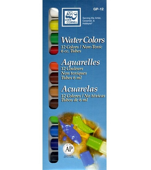 Loew Cornell Watercolor Paint Set-12 Colors