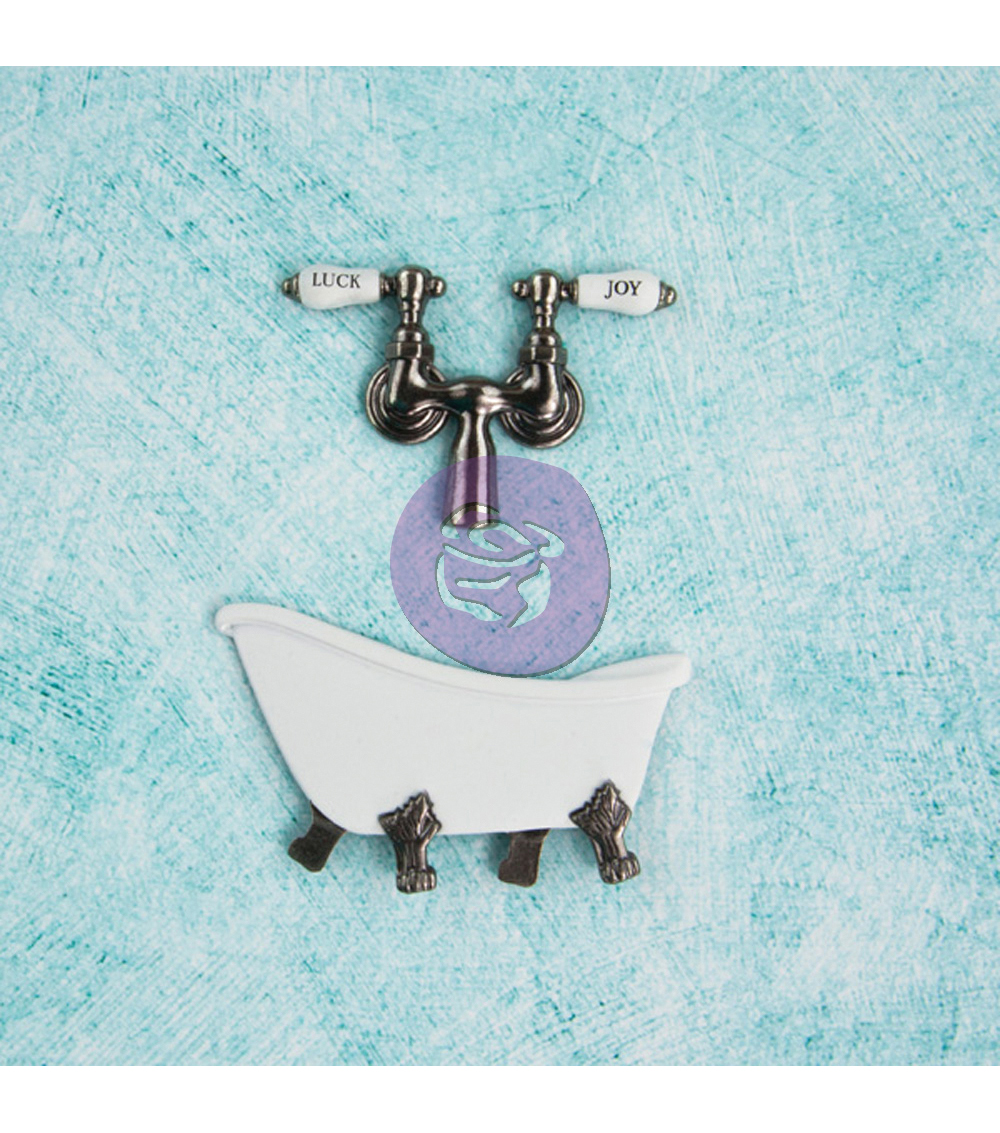 Prima Marketing Metal Treasures Antique Clawfoot Tub With Faucet