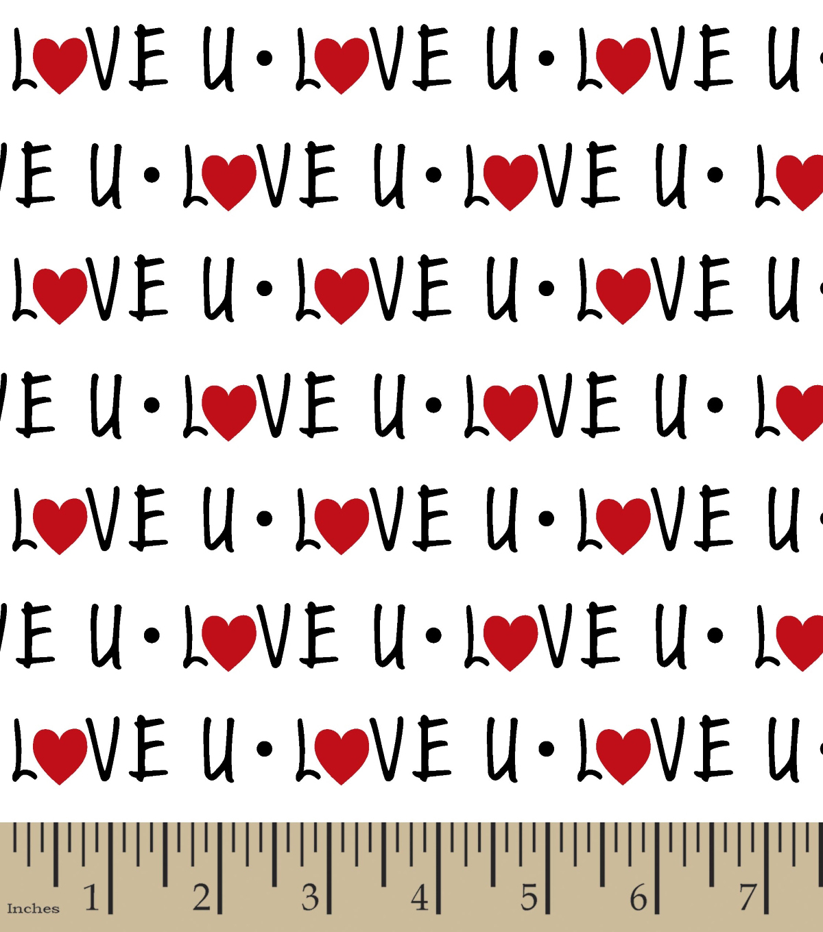 Snuggle Flannel Fabric 42\u0027\u0027-Love U