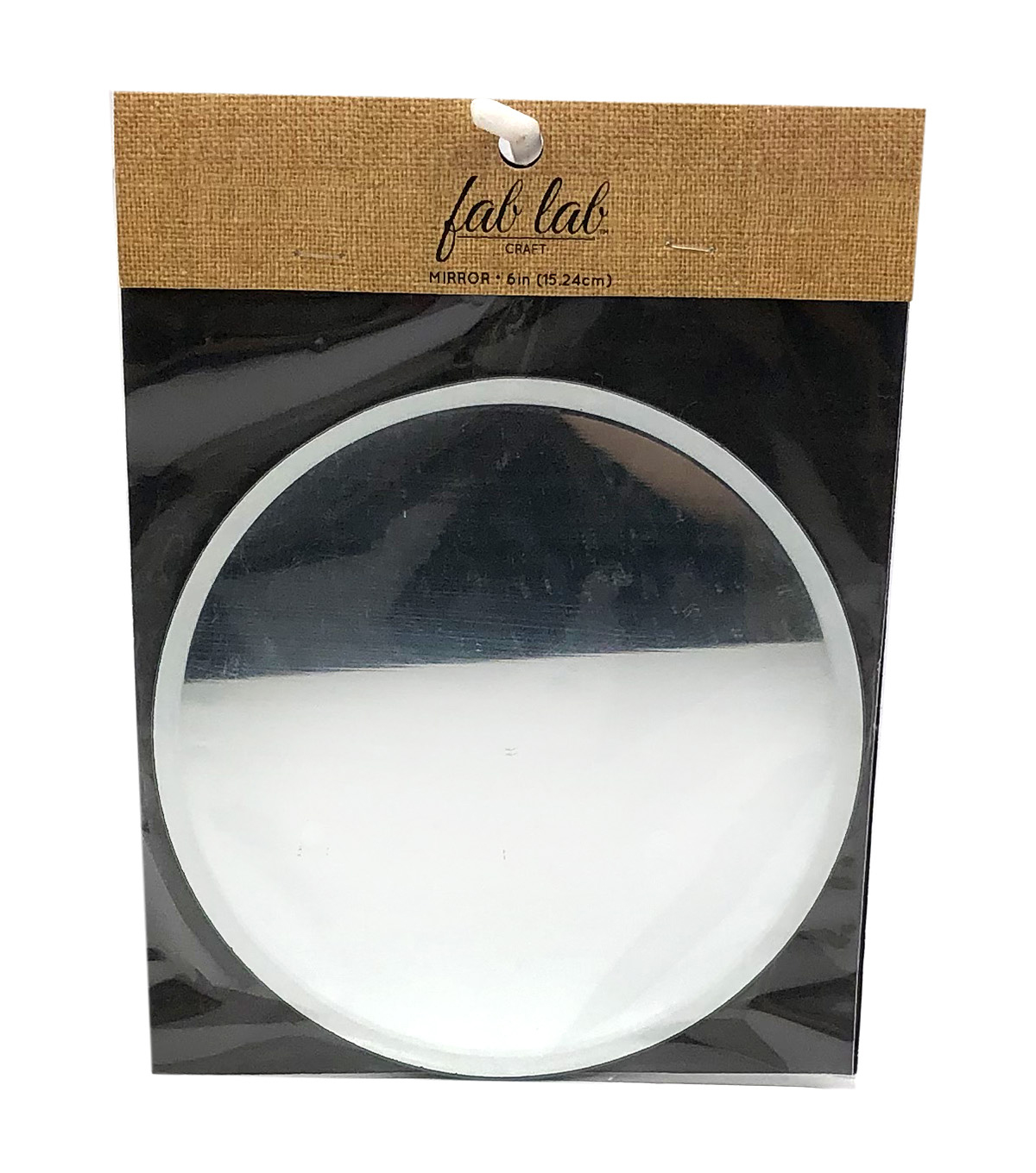Fab Lab 6\u0022 Circle Mirror with Beveled Edge