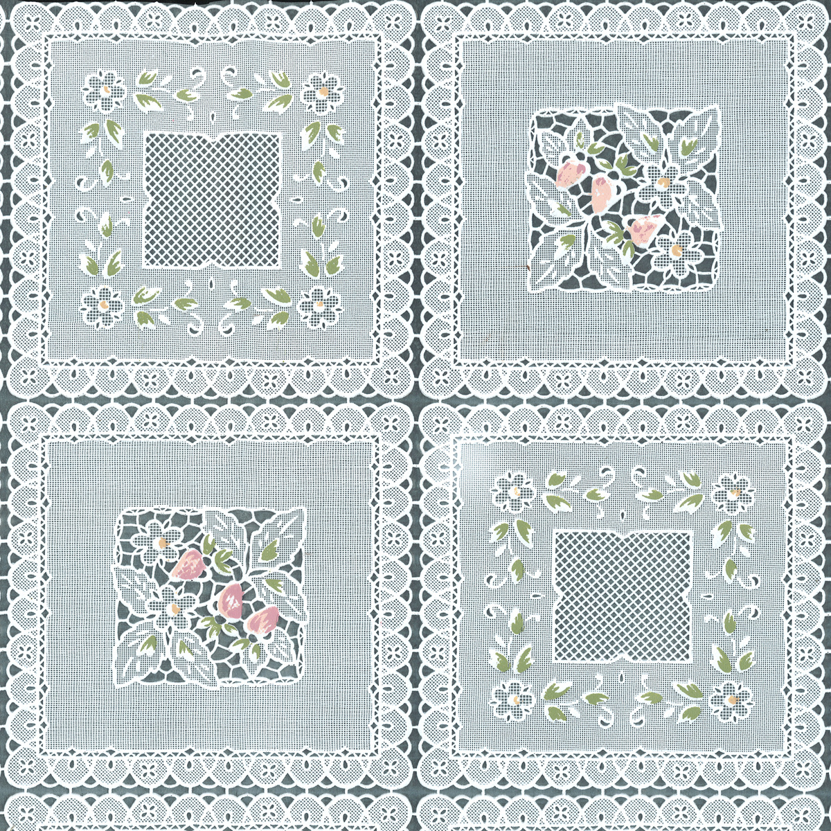 Tablecloth Vinyl Squares Floral Joann