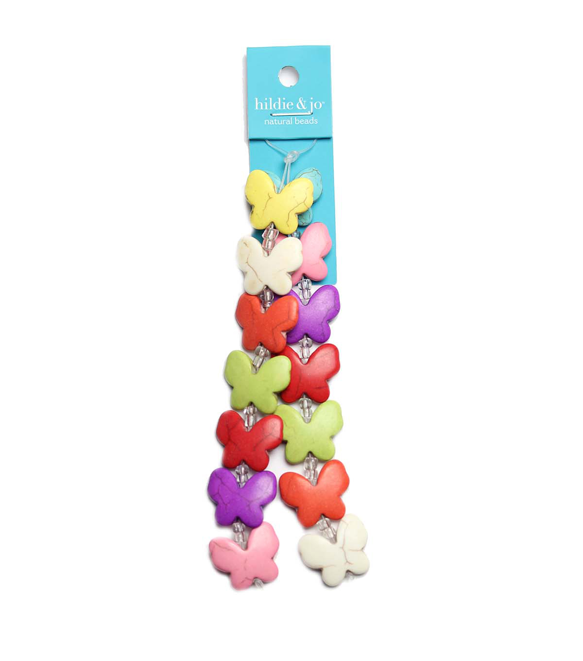 hildie & jo Strung Beads-Butterfly Multi