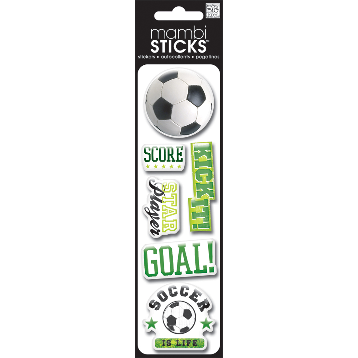 Me & My Big Ideas Puffy Stickers Soccer