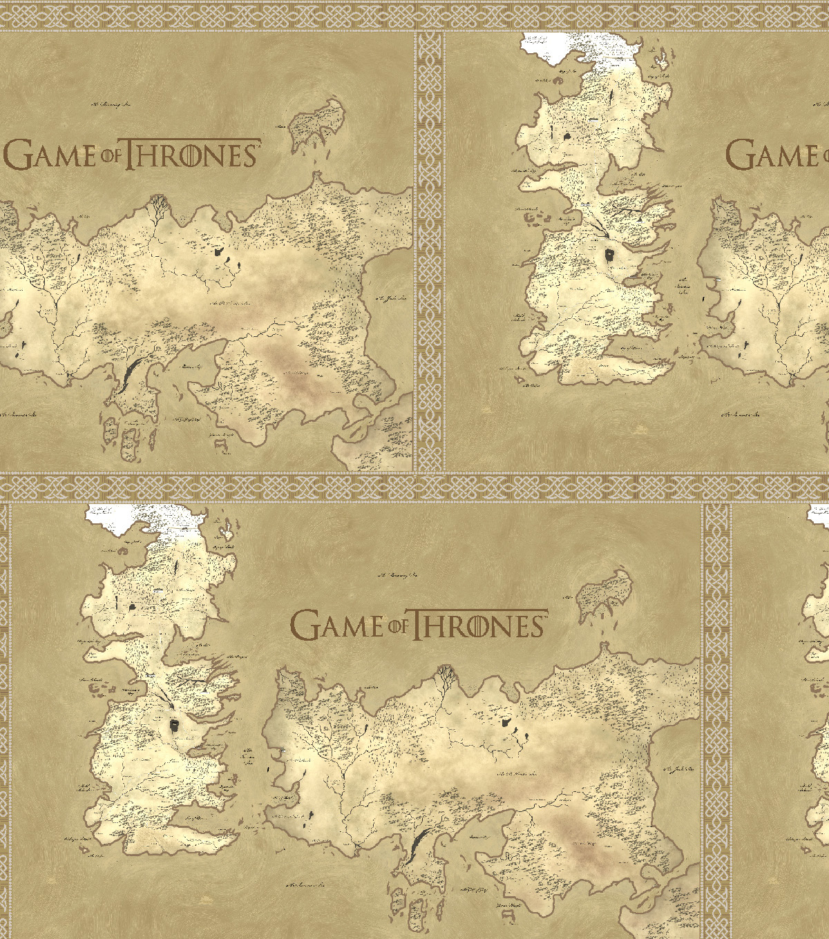 Game Of Thrones Cotton Fabric Map Of Westeros
