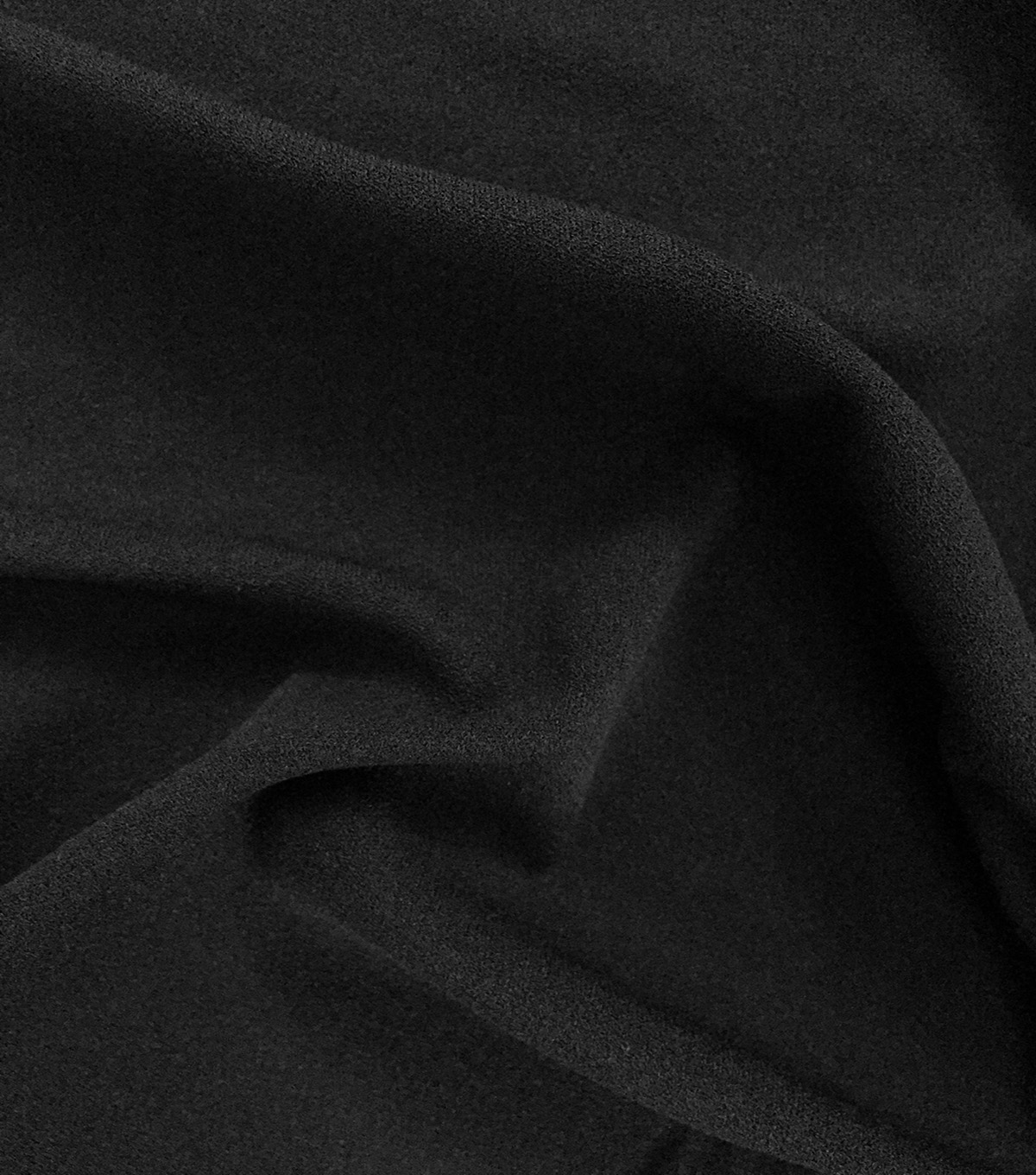 Endless Sea Stretch Crepe Fabric-Black