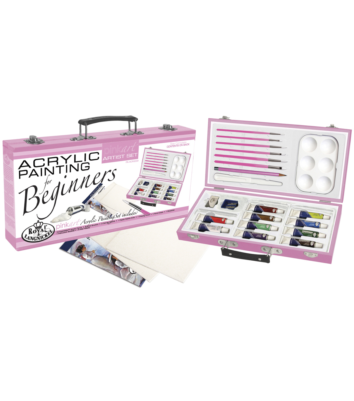 Royal Brush Pink Art For Beginners Artist Set-Acrylic Painting