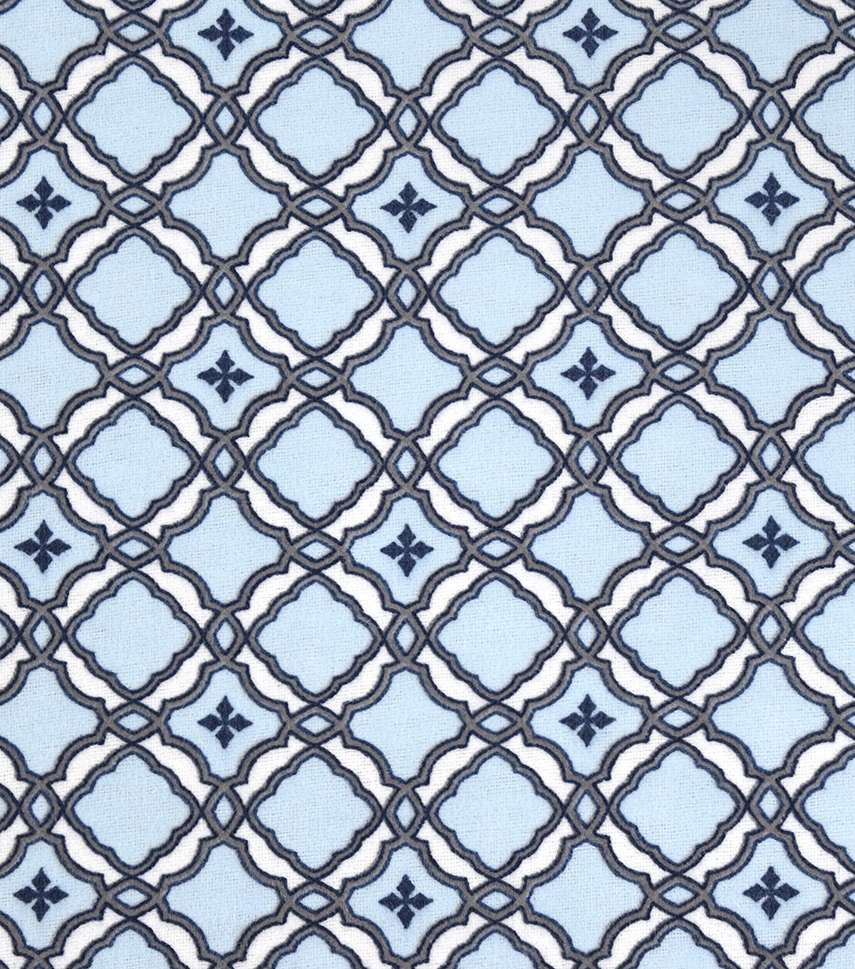 Snuggle Flannel Fabric -Spa Link Medallion