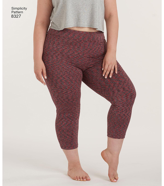 9245a03c5fd7a Simplicity Pattern 8327 Women's Knit Leggings-Size A (1X-5X) | JOANN