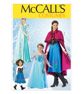 McCall\u0027s Pattern M7000-Winter Princess Dresses, and Cape with Collar and Capelet, Sizes 3-4