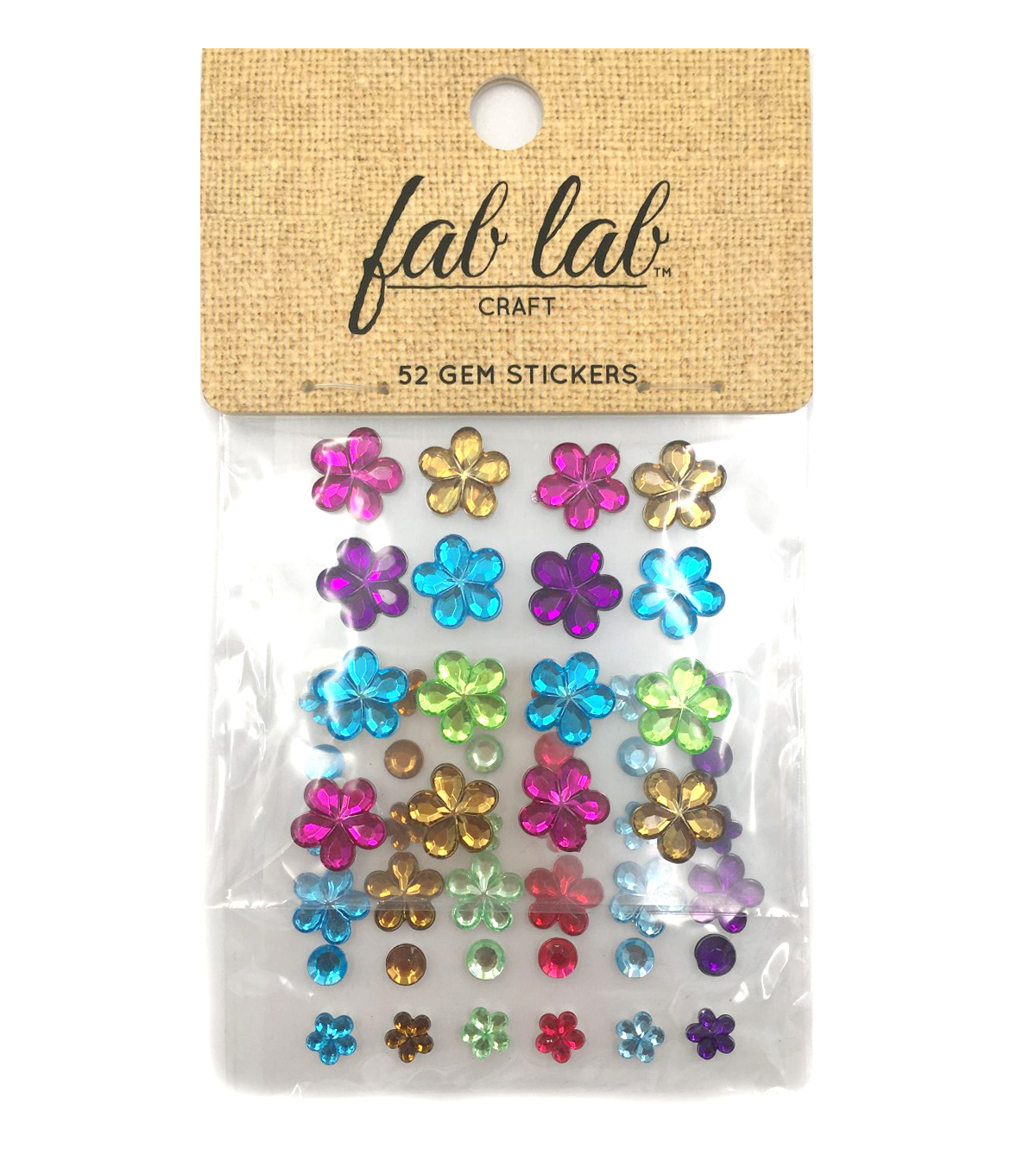 Stick-On Rhinestones Vibrant Colors-Flowers and Rounds
