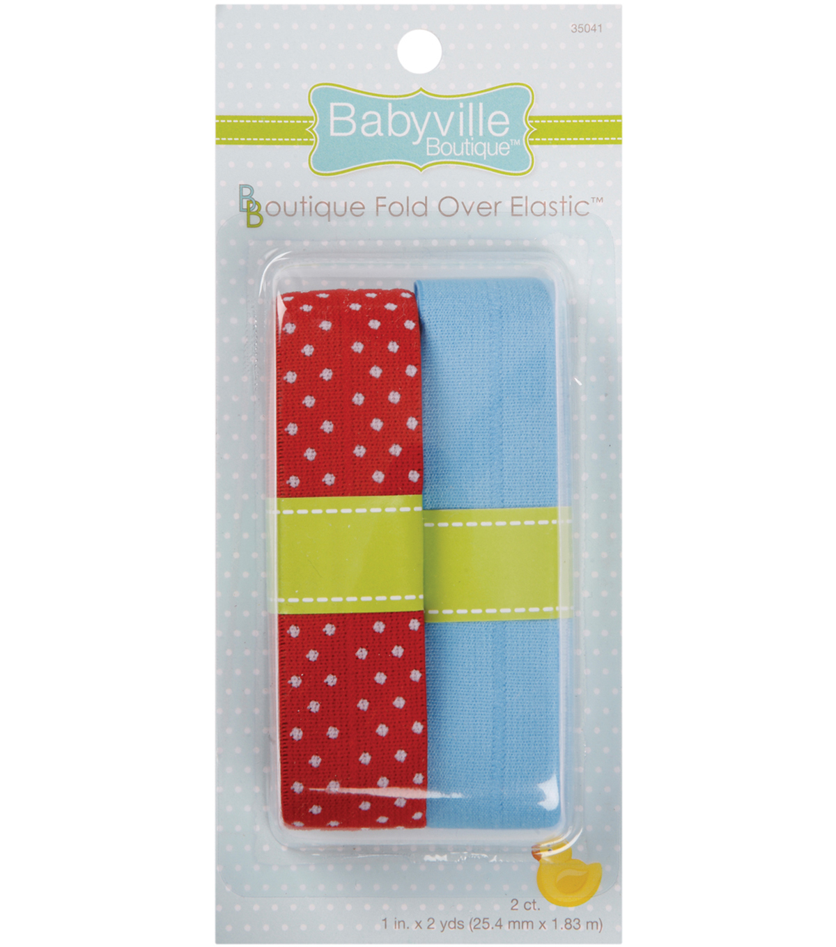 Babyville Boutique 4 Yds Fold Over Elastic Red Blue