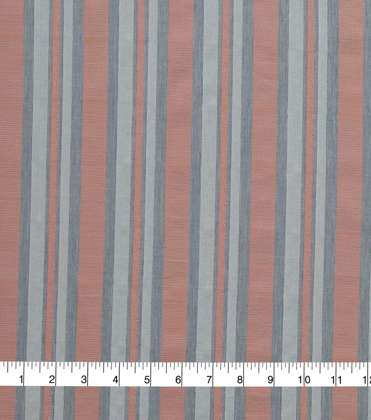 Linen & Linen Look Fabric -Coral Stripes