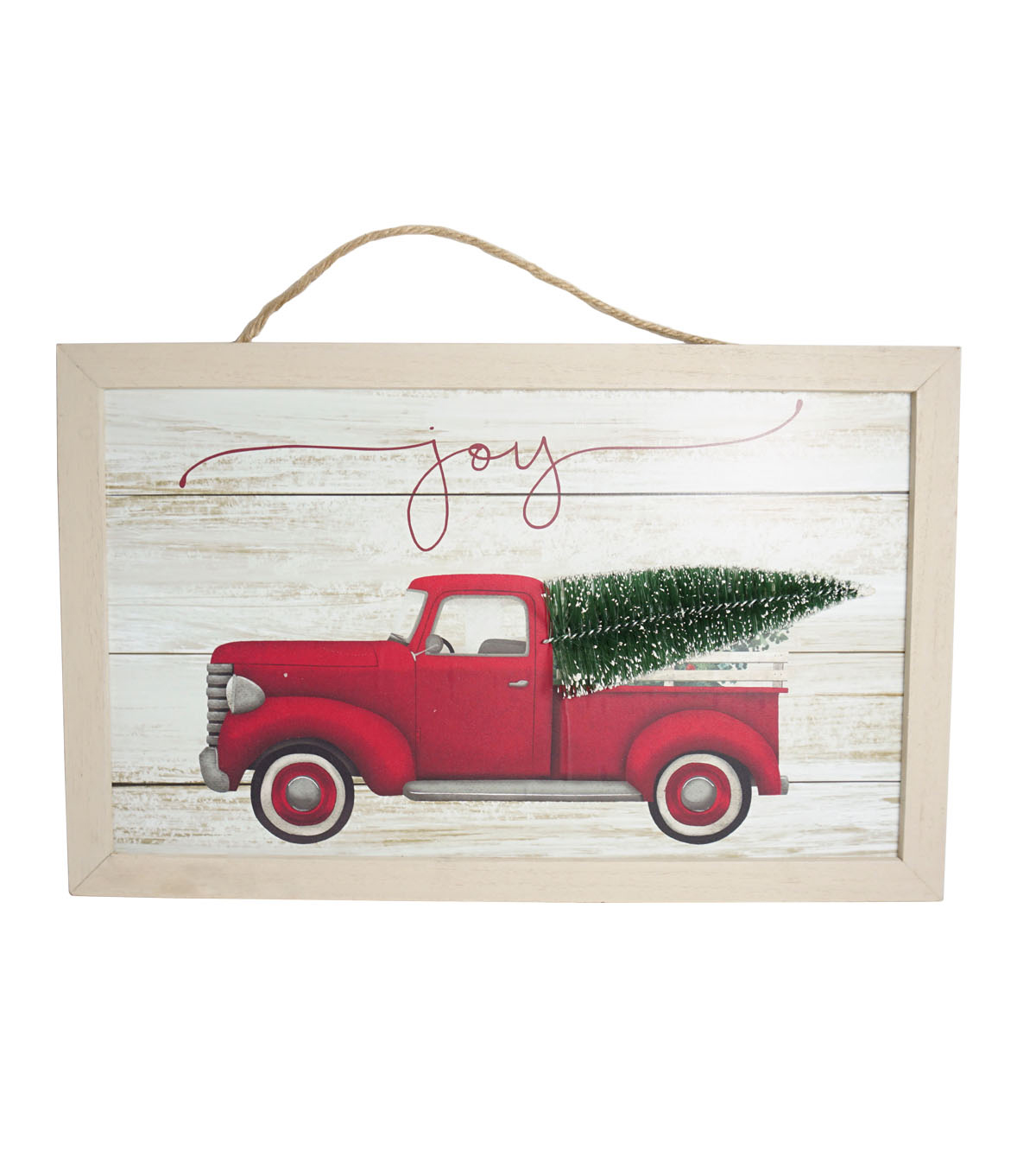 makeru0027s holiday christmas wall decor truck with tree