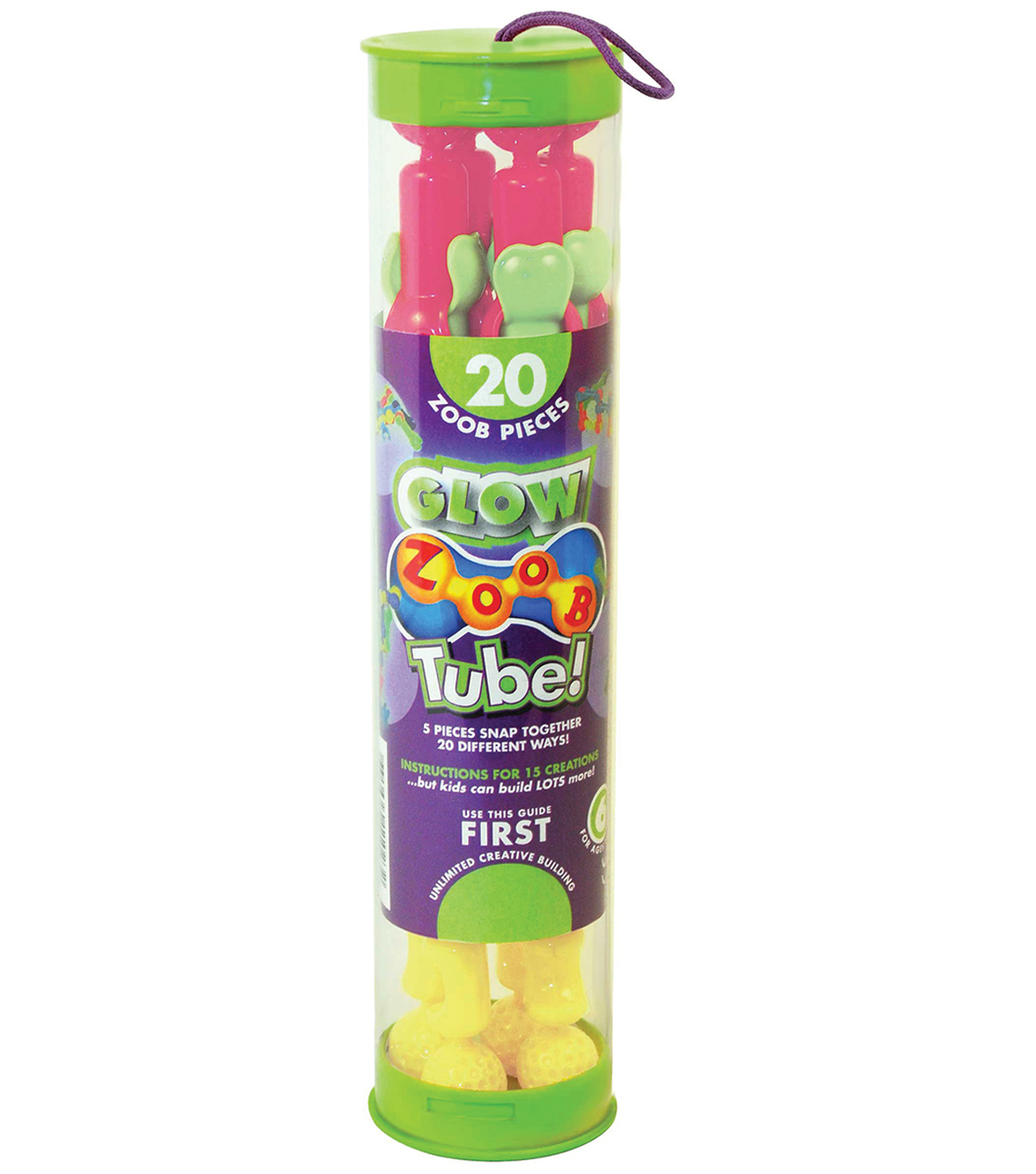 ZOOB Tube! 20 Pack-Glow In The Dark