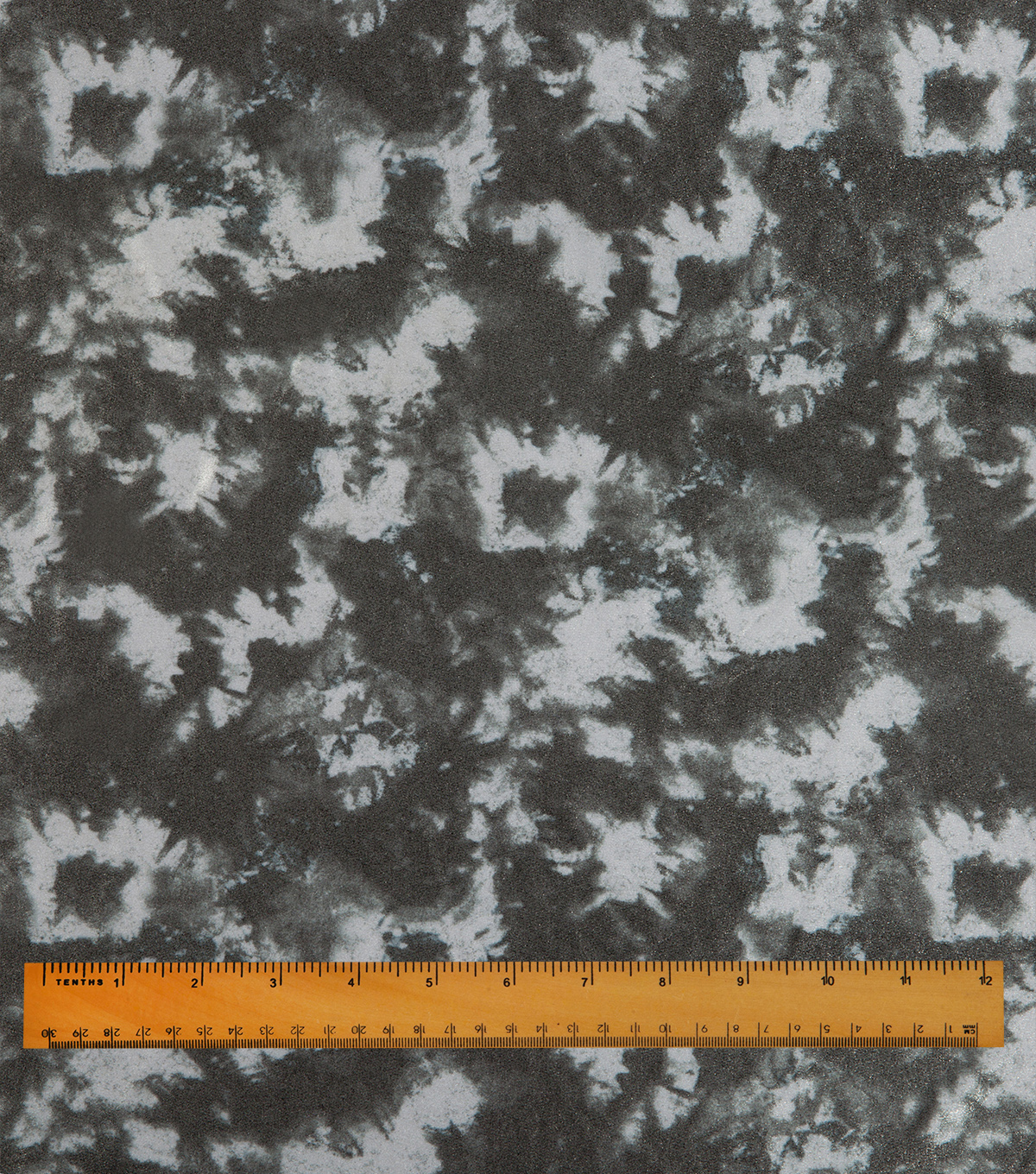 Performance Stretch Fabric-Shimmer Tie Dye Black White