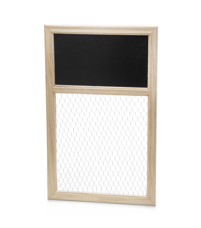 Chicken Wire & Chalkboard Unfinished Frame | JOANN