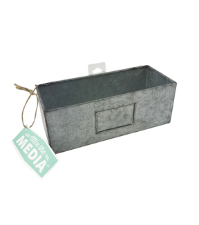 Mix the Media 5.25\u0027\u0027 Galvanized Pegboard Bin