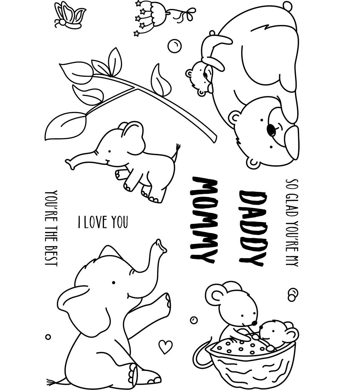 Neat & Tangled Clear Stamps 4\u0022X6\u0022-Mommy, Daddy & Me