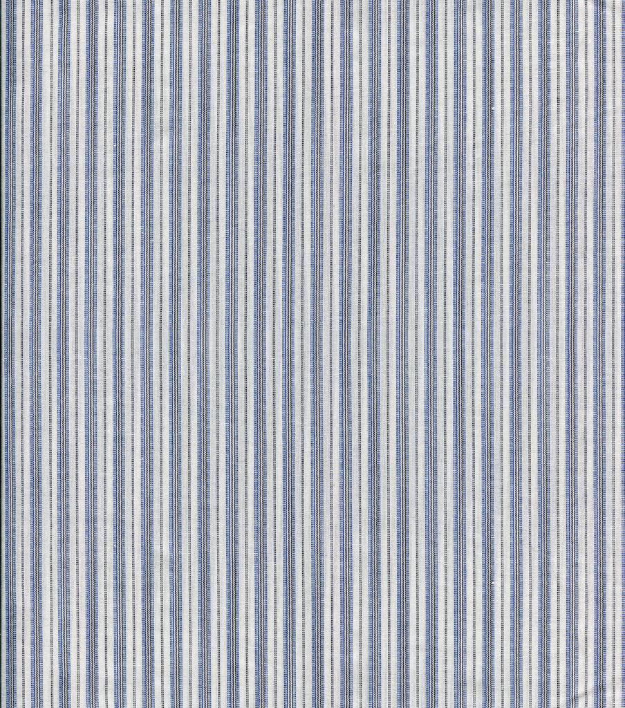 Shirting Fabric Blue Black White Stripe