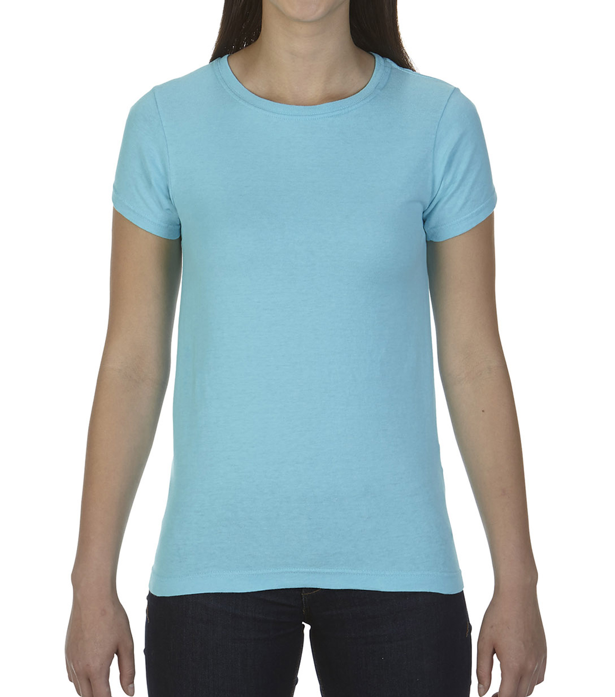 Comfort Colors Large Ladies T-Shirt, Lagoon Blue