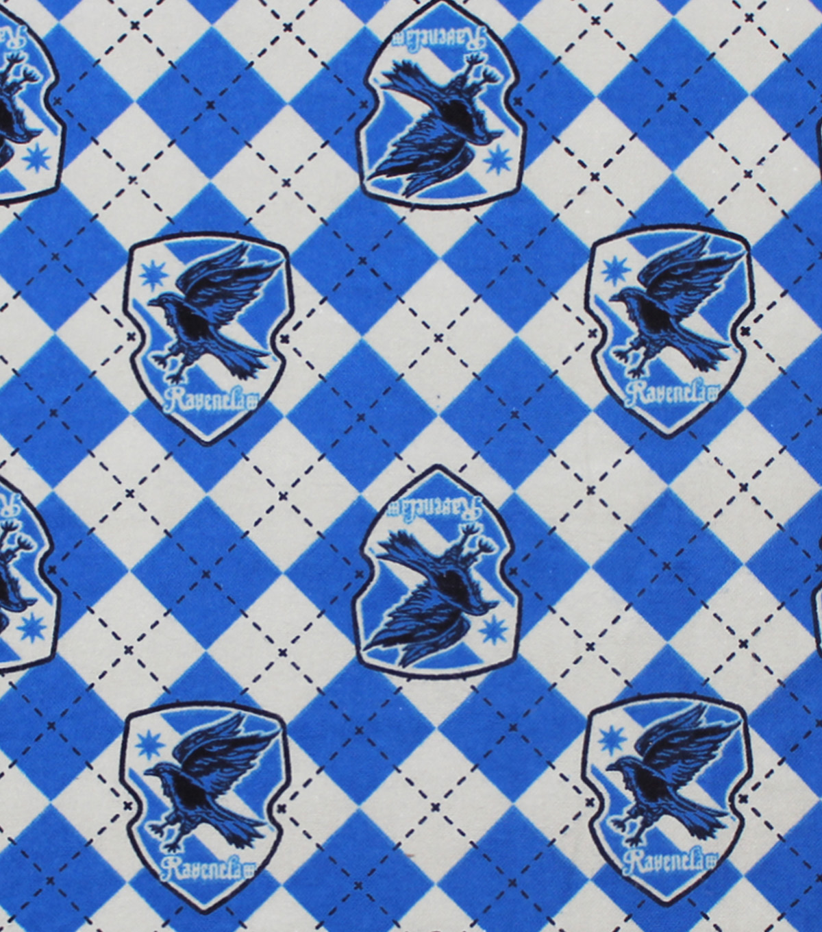 Harry Potter Flannel Fabric 42\u0022-Ravenclaw Argyle