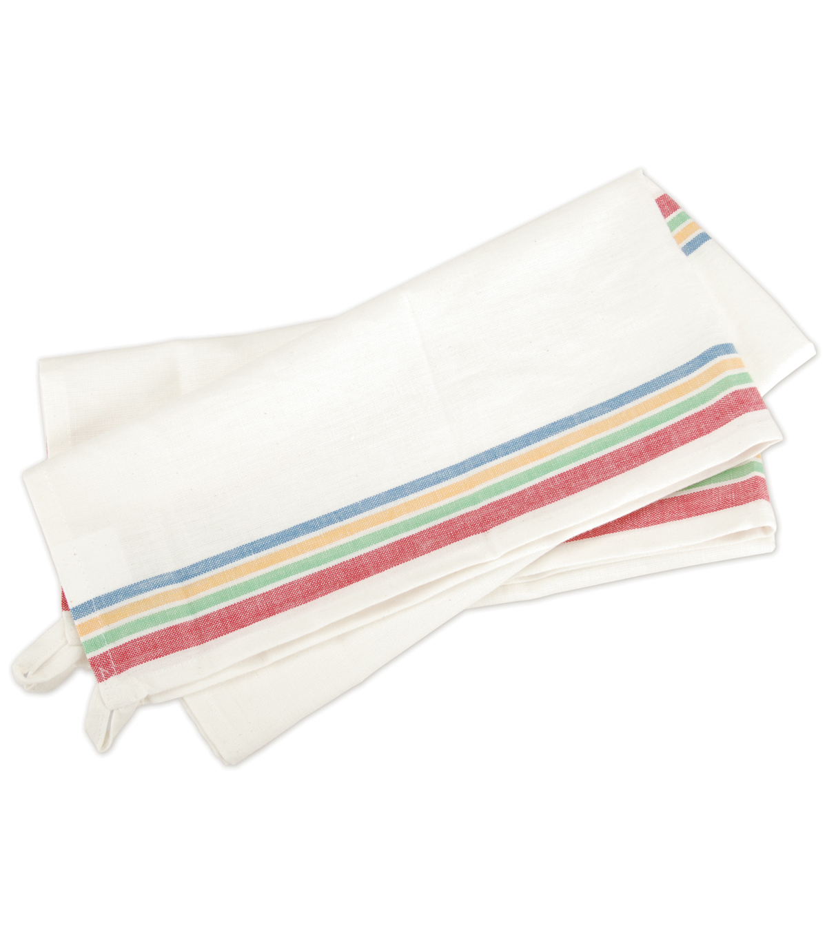 Vintage Stripe Towel 18\u0022X28\u0022 3/Pkg- White with Multi-Stripe