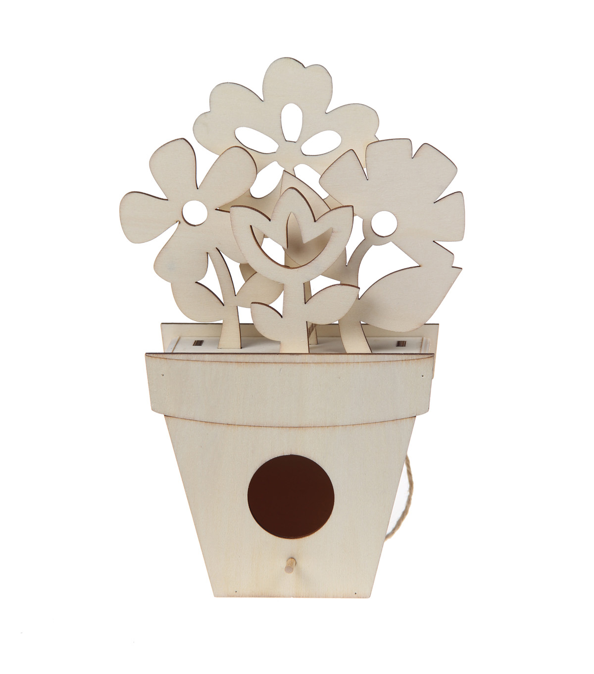 Simply Spring Small Birdhouse with Laser Cut 3D Flowers