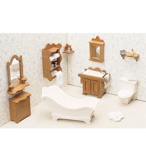 Greenleaf Dollhouse Furniture-Bathroom Set