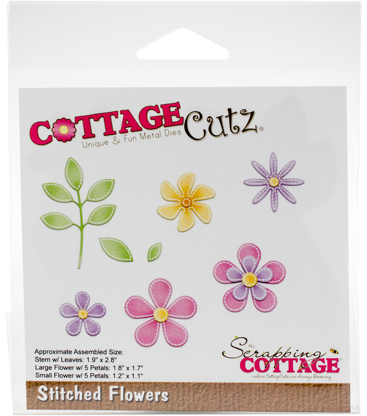 The Scrapping Cottage CottageCutz Dies-Stitched Flowers