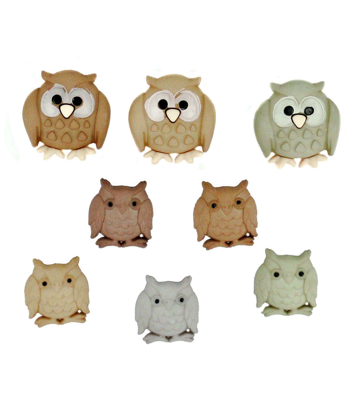 Jesse James Dress It Up Animals Button Embellishments-Whoo?