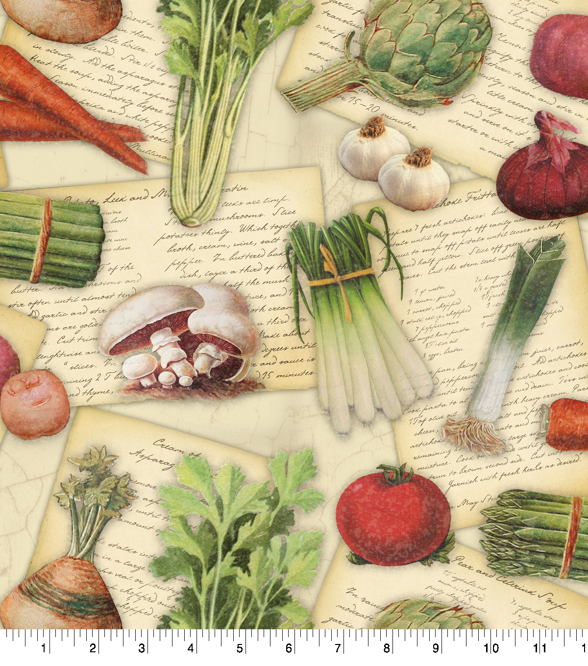 Novelty Cotton Fabric-Gourmet Recipes