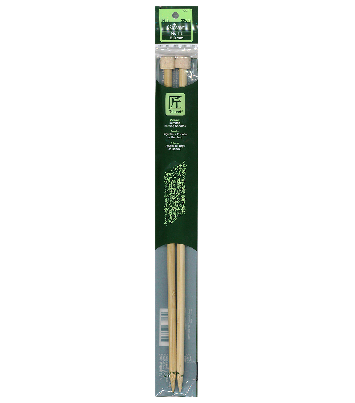 Clover Takumi Bamboo Knit Needle-Single Pt. 13\u0022-Size 11