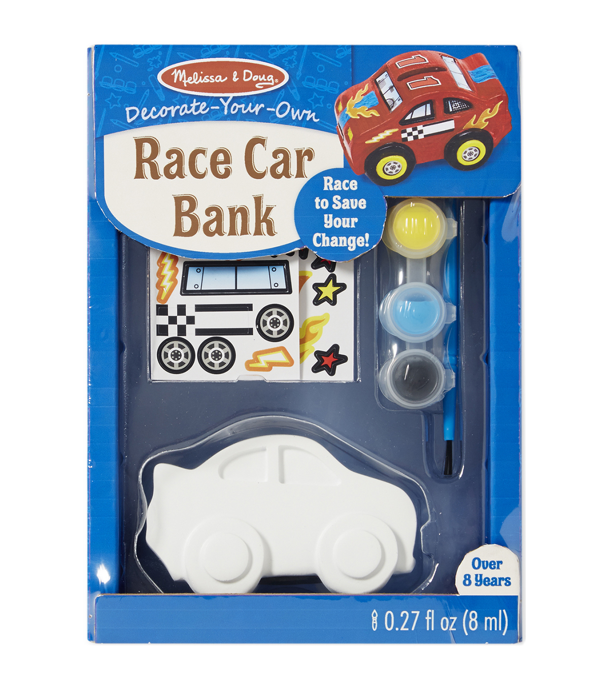 Melissa & Doug Decorate-Your-Own Race Car Bank Craft Kit