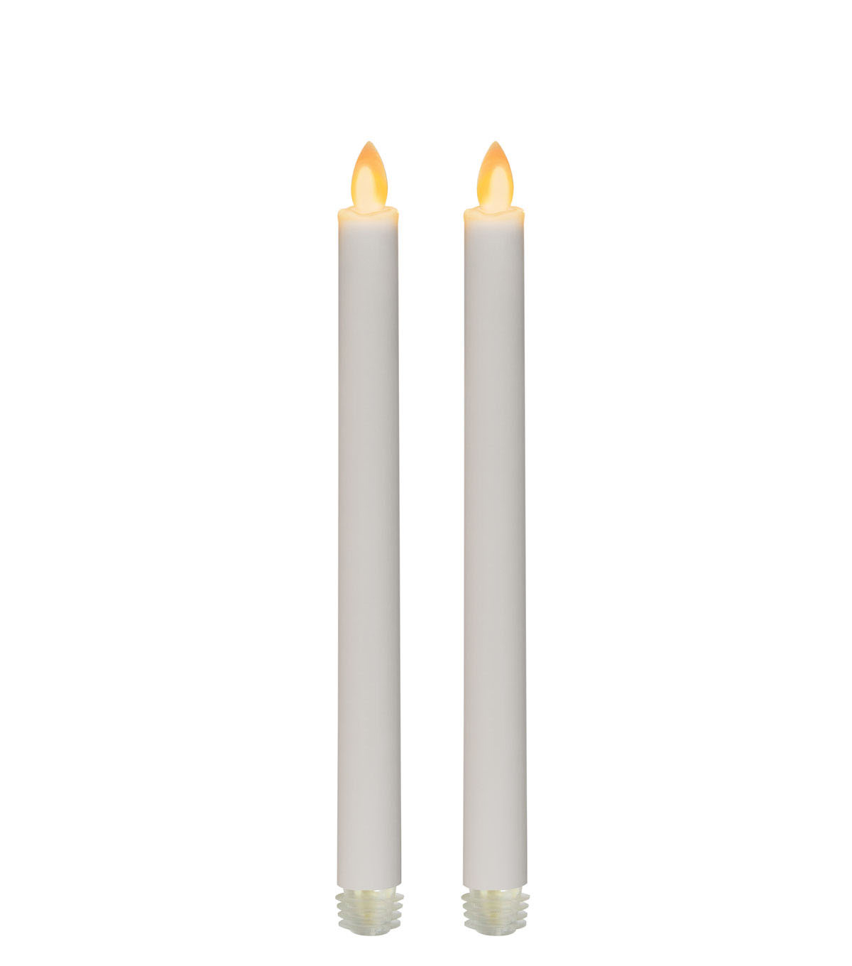 Hudson 43 Candle & Light Collection 2 Pack White Iflicker Tapers