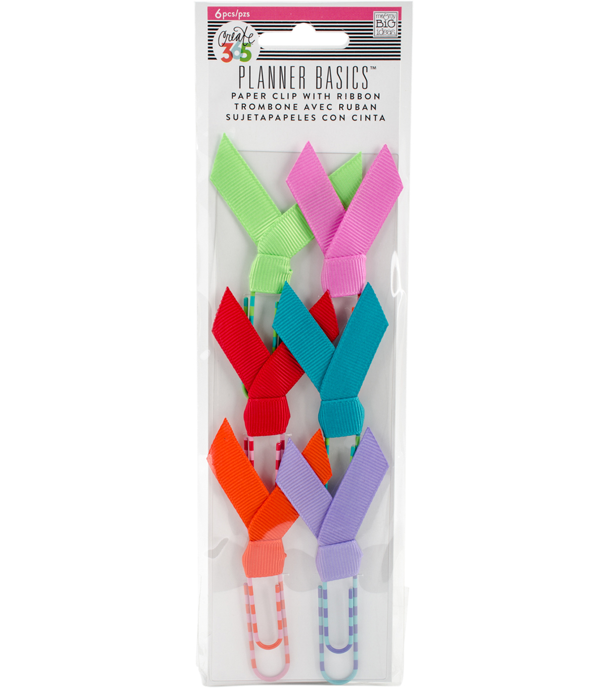 The Happy Planner Paperclips-Bright Ribbon