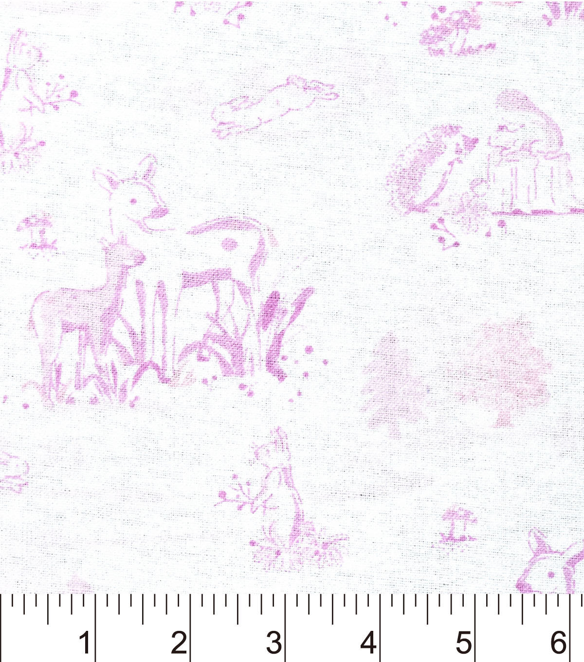 Nursery Flannel Fabric 42\u0022-Ballerina