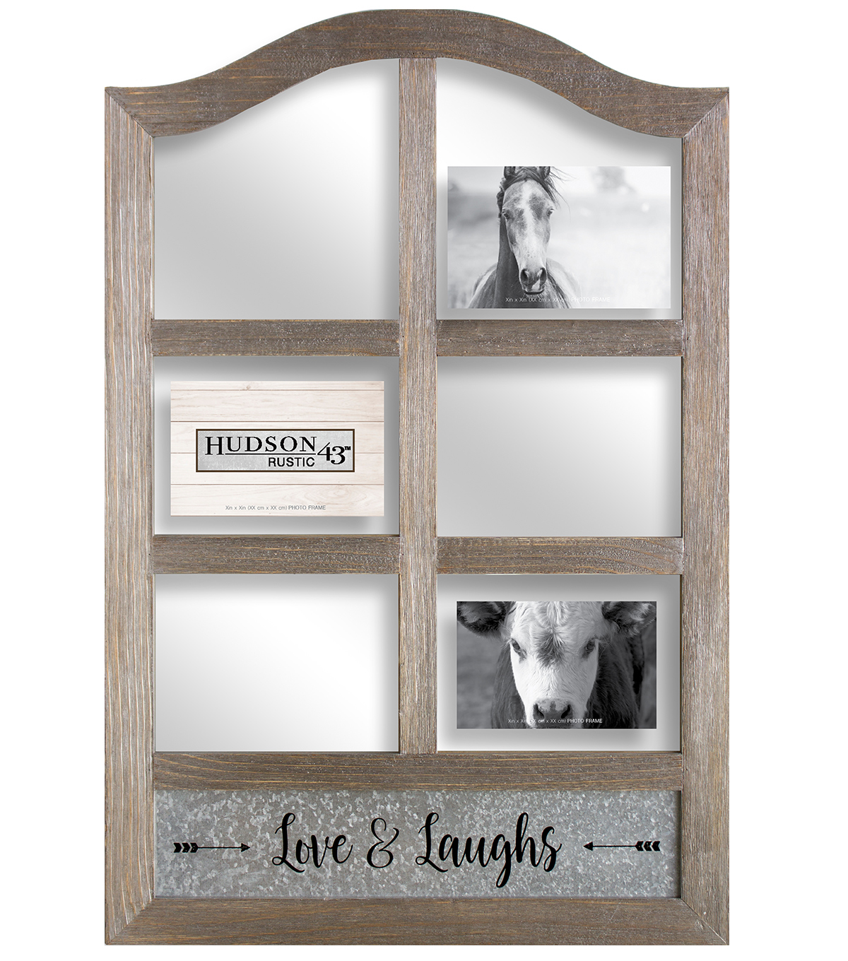 Hudson 43 Rustic Six Opening Photo Collage Frame | JOANN