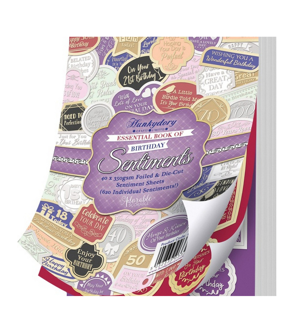 Hunkydory A5 Essential Book Of Sentiments-Birthday