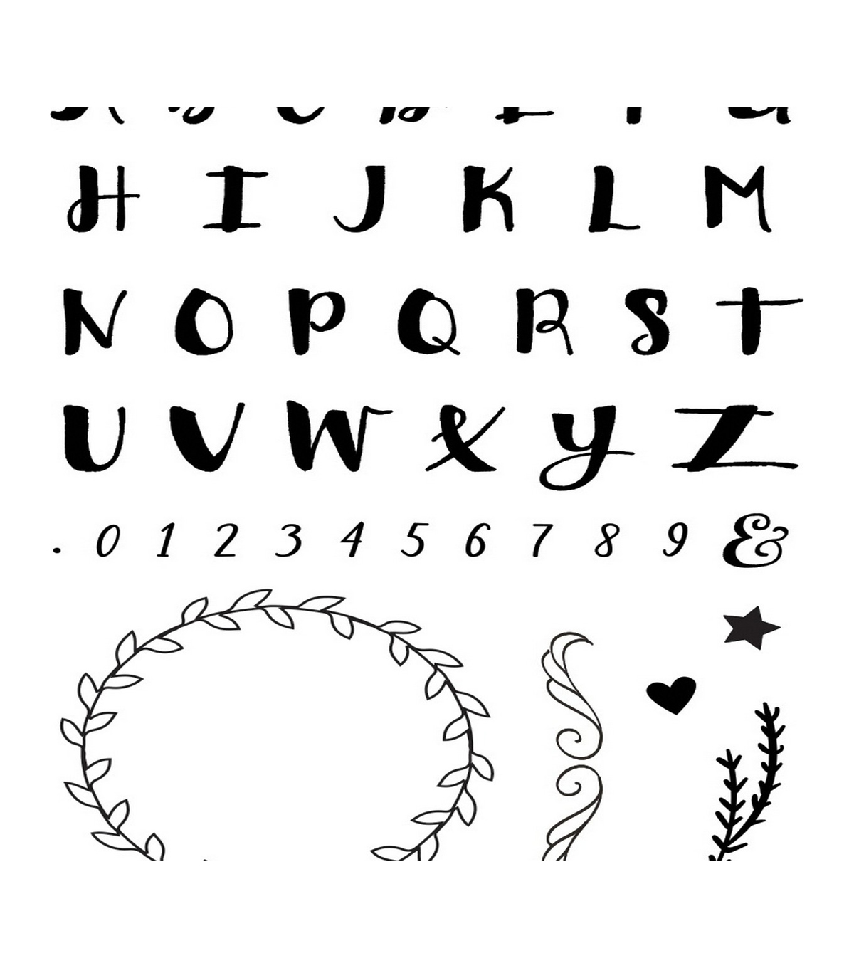 Momenta Clear Stamps-Alphabet & Wreath