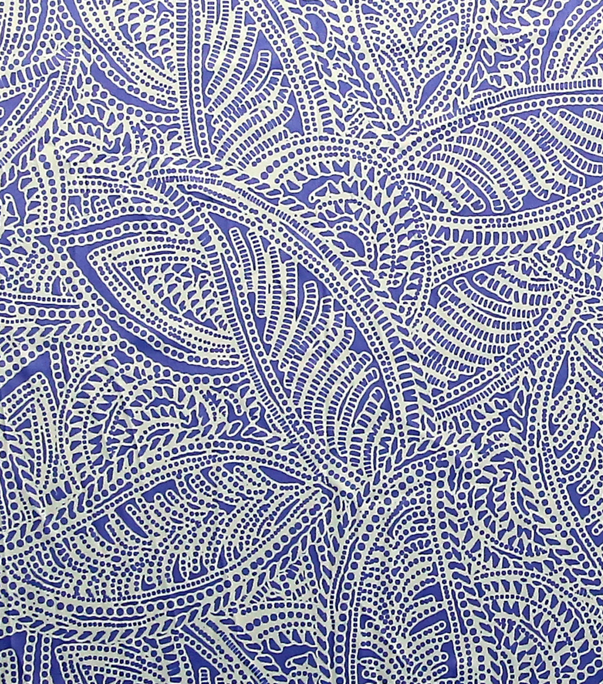 Simply Silky Print Stretch Fabric -Paisley Blue