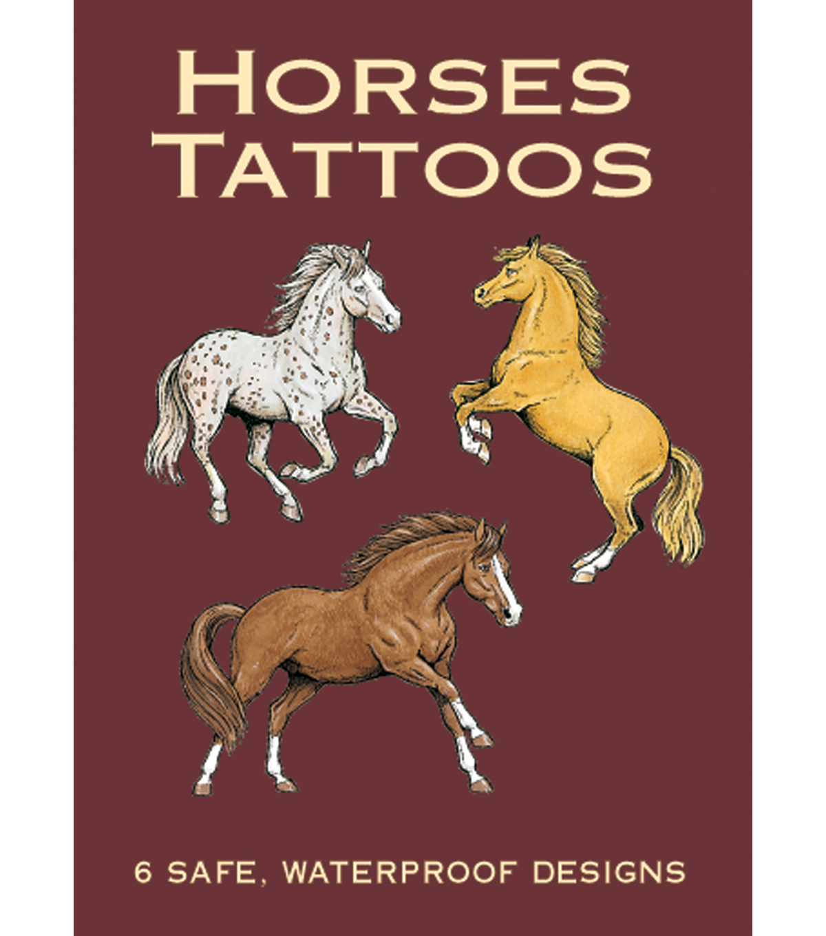 Dover Publications-Horses Tattoos Book