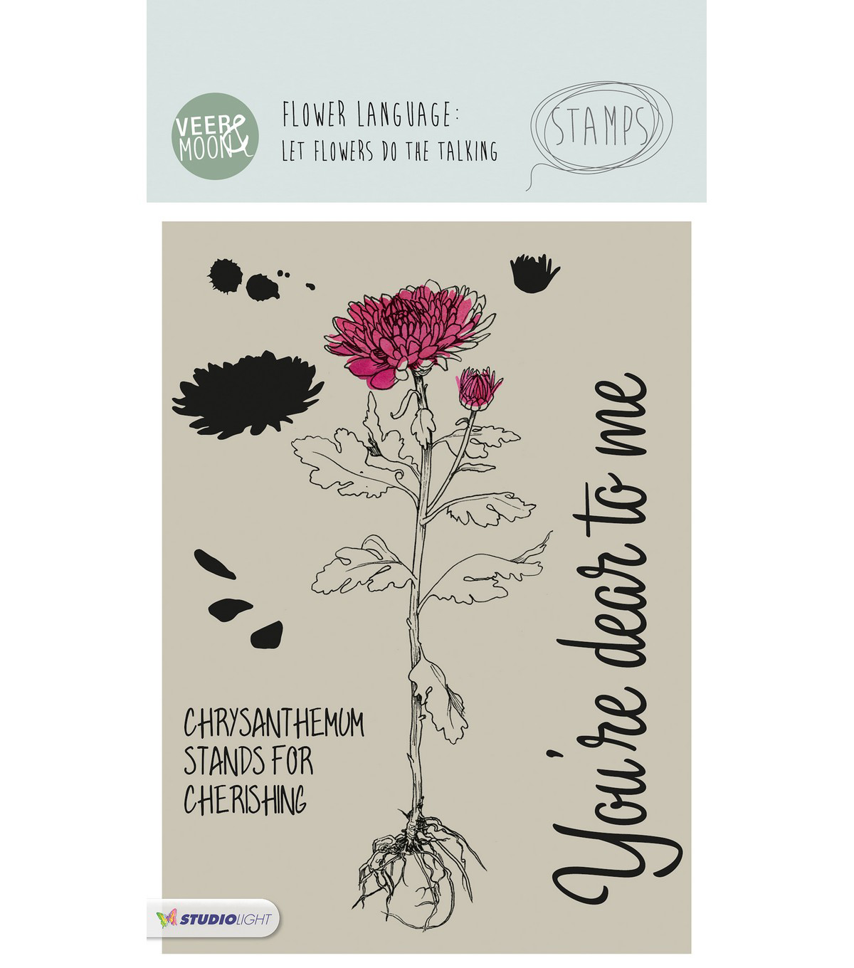 Studio Light Veer & Moon Flower Language 9 pk Stamps-Chrysanthemum