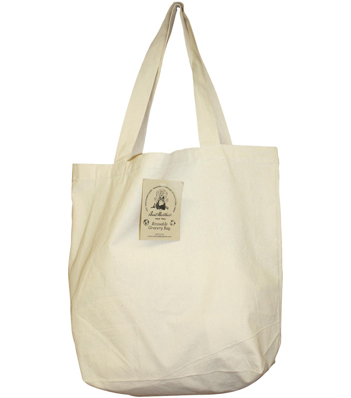 c9a0208e11ddd1 Aunt Martha's Reusable Canvas Grocery Bag 14-1/2
