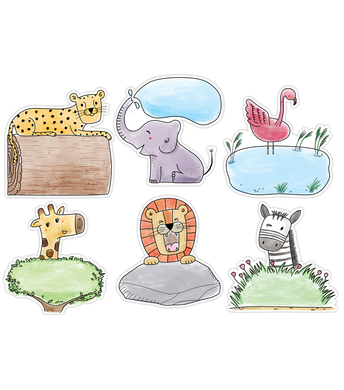 Creative Teaching Press Safari Friends 10\u0022, 12 Per Pack, 3 Packs