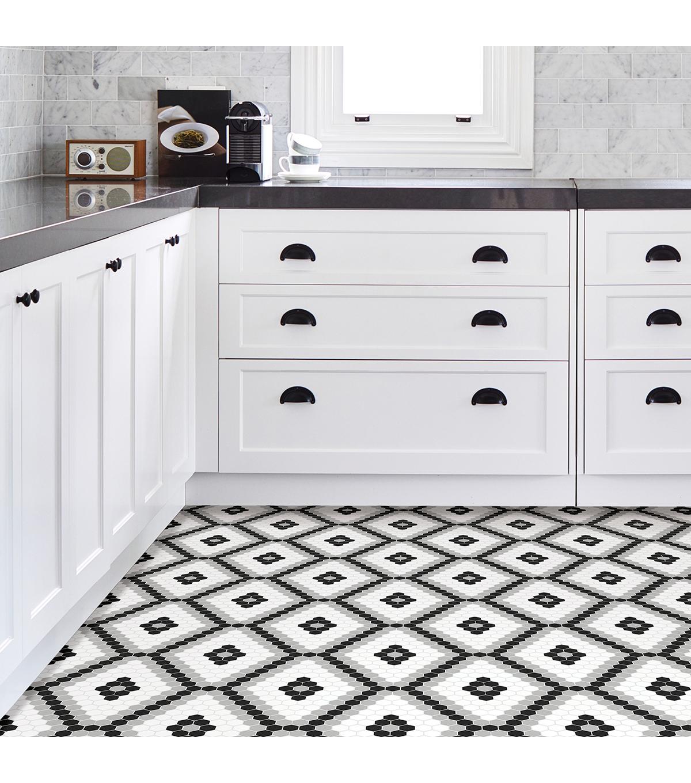 L Stick Floor Tiles Black