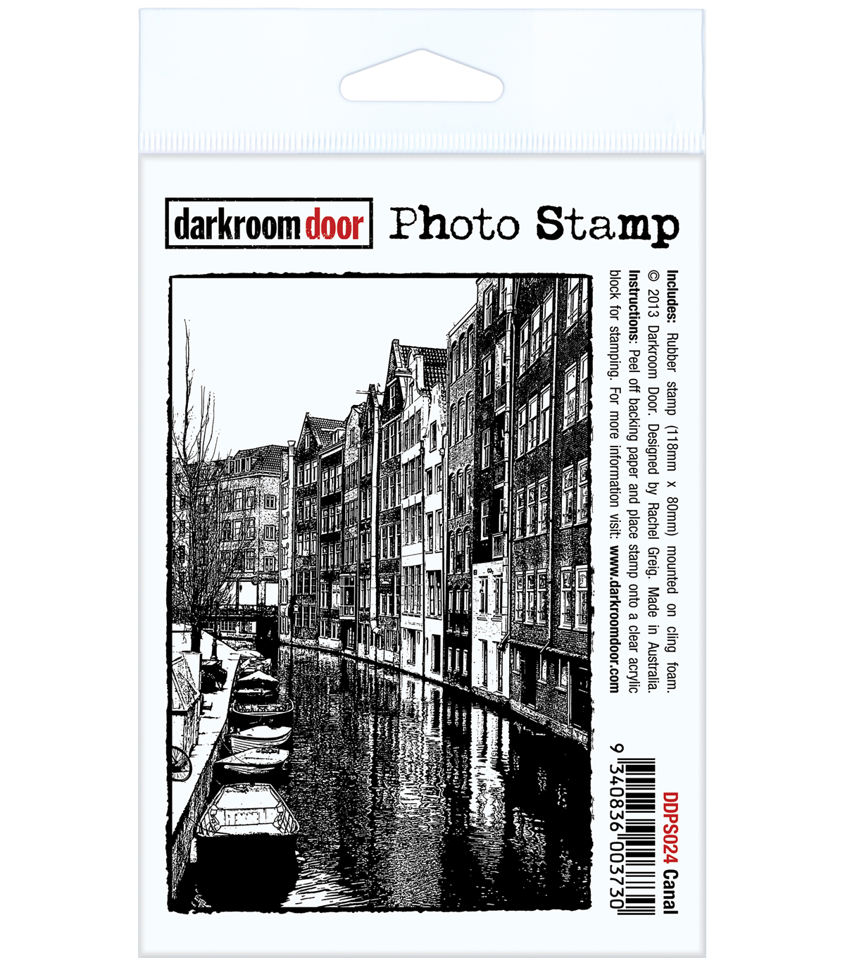 Darkroom Door Cling Stamp 4.5\u0022X3\u0022-Canal