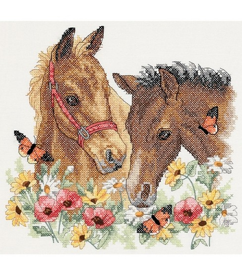Dimensions Horse Friends Stmpd X-Stitch Kit