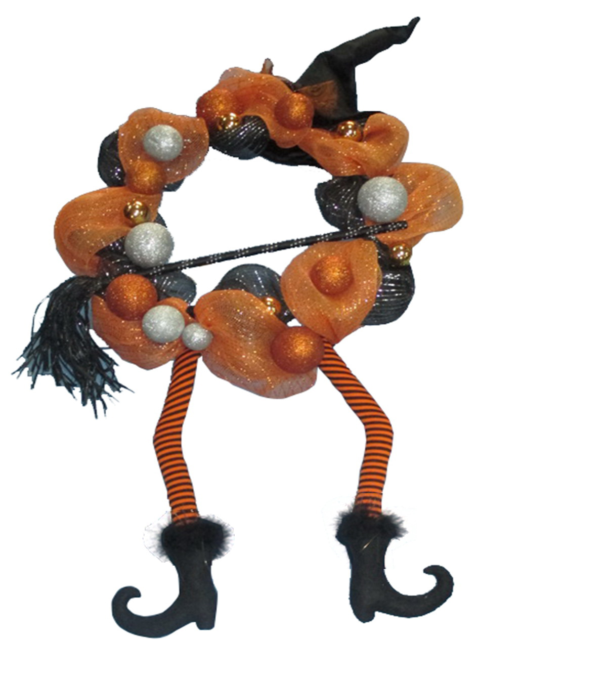 Maker\u0027s Halloween Wreath with Witch Hat
