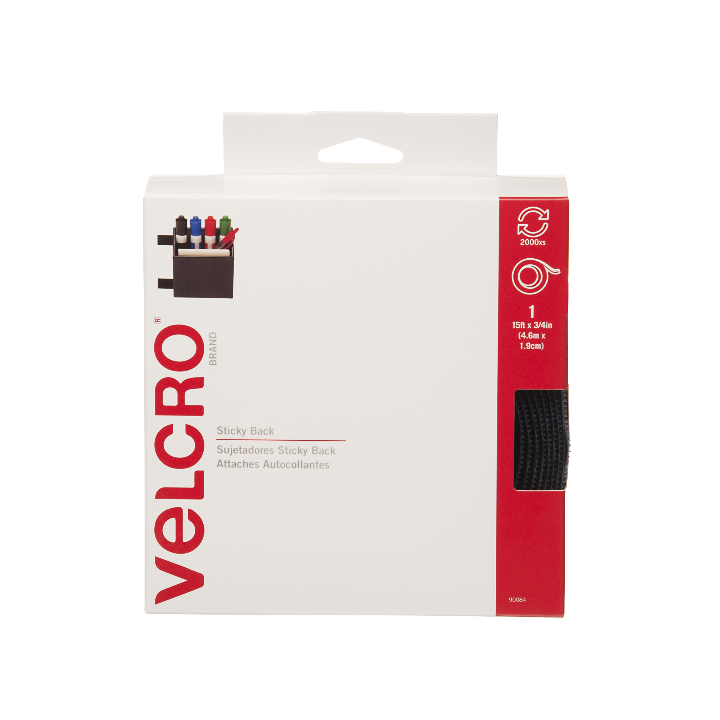 VELCRO Brand Sticky Back Tape, Navy