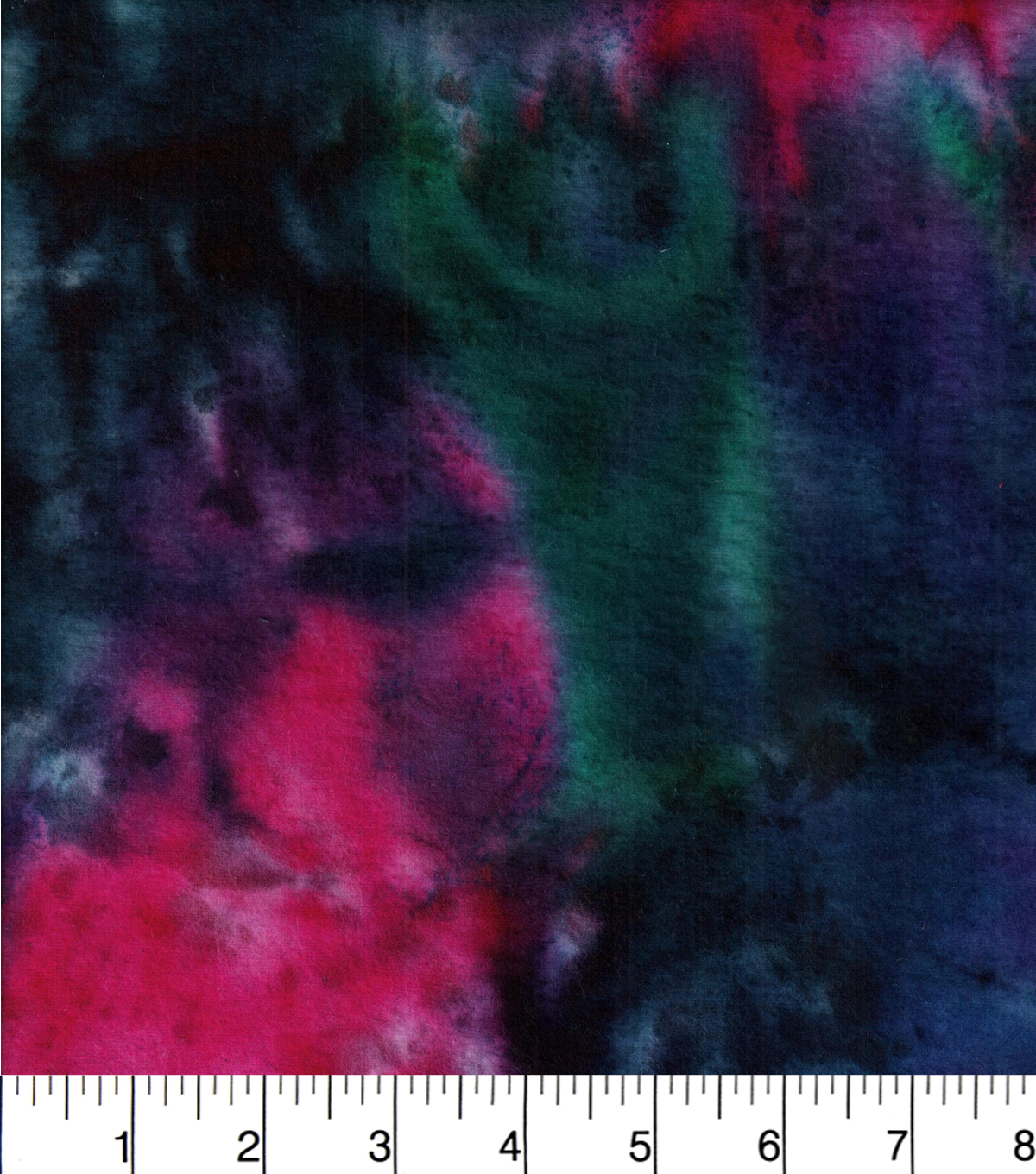 Snuggle Flannel Print Fabric -Dark Blue Purple Tie Dye